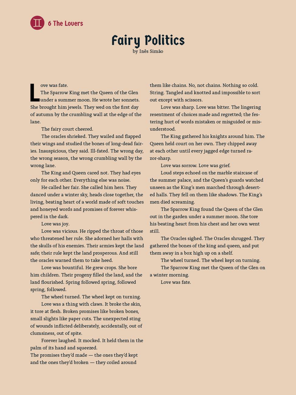 6 The Lovers - Fairy Politics - Inês Simão
