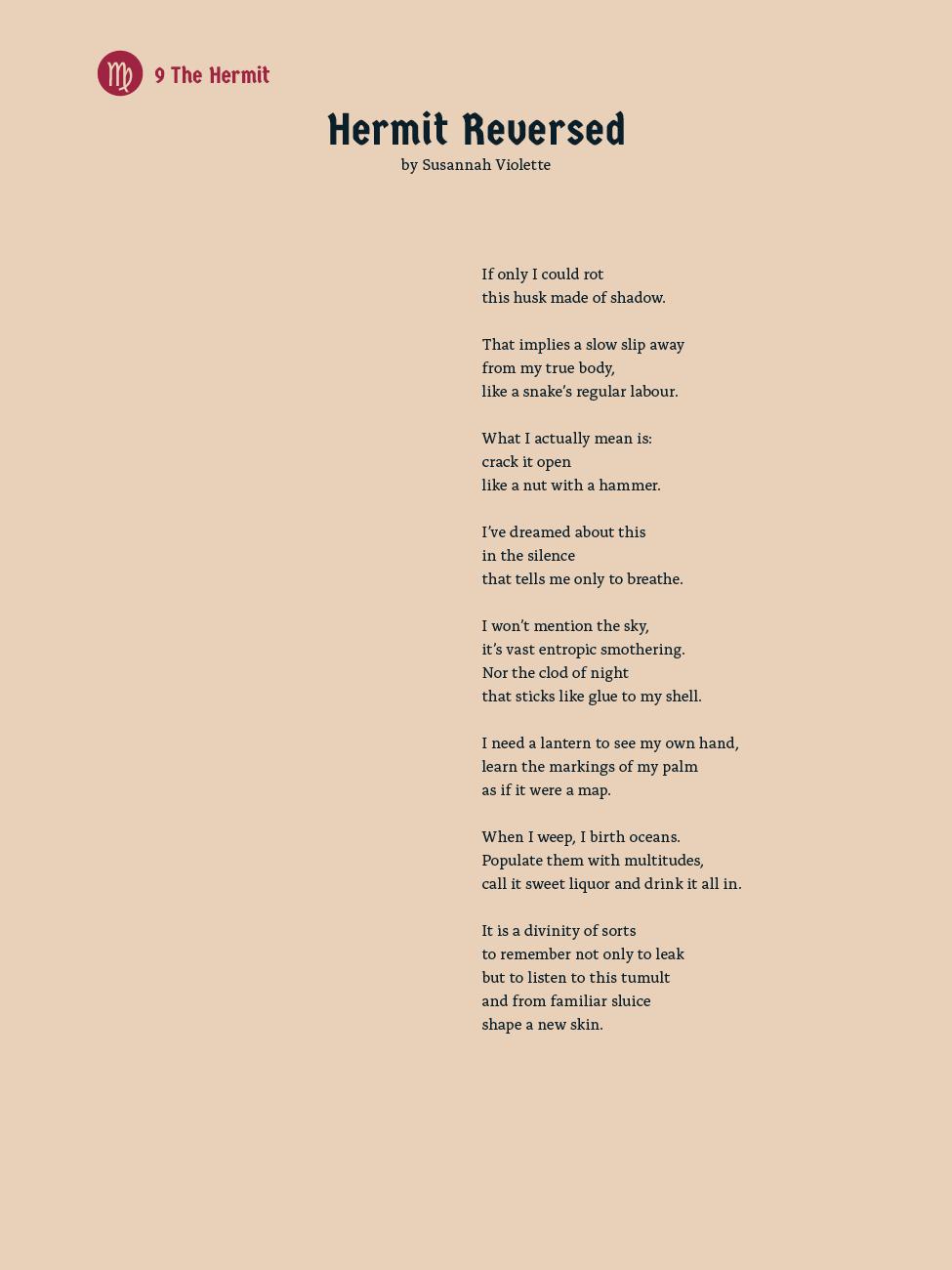 9 The Hermit - Hermit Reversed - Susannah Violette